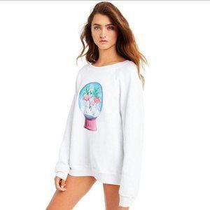 Wildfox Snowy Tropics Sweatshirt Size S
